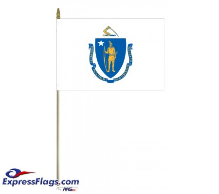 Mounted Massachusetts State Flags