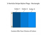 3-Verticle Stripe Nylon Flags - Rectangle