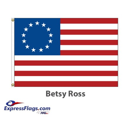 Sewn Nylon - Betsy Ross American Historical FlagsBRS-NYL