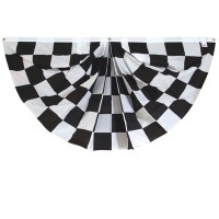 3' x 6'  Checkered Fan -  Printed Poly-Cotton
