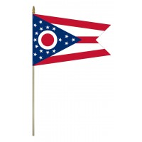 Mounted Ohio State Flags
