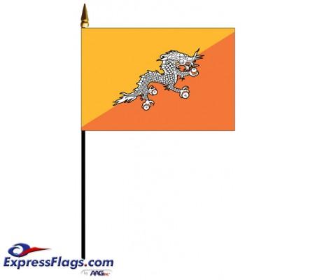 Bhutan Mounted Flags - 4in x 6in030522