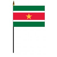Suriname Mounted Flags