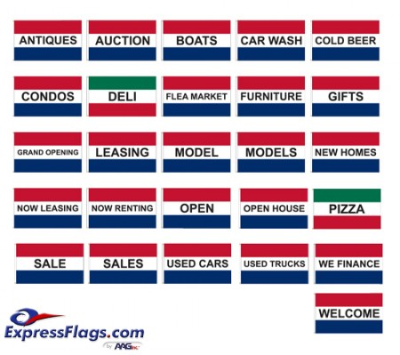 Promotional Message Nylon FlagsSPFLAG