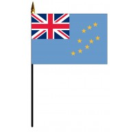 Tuvalu Mounted Flags - 4in x 6in