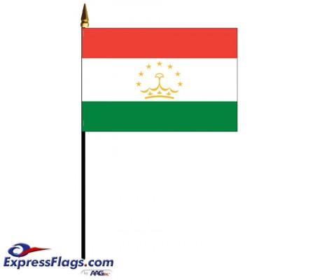 Tajikistan Mounted Flags - 4in x 6in034056
