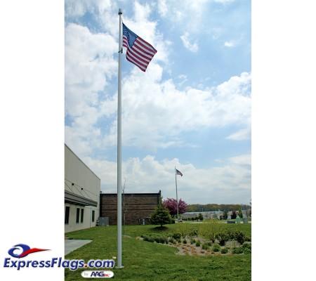 30 ft. Hurricane IH Aluminum Flagpole (0.250) - Internal HalyardECH30IH