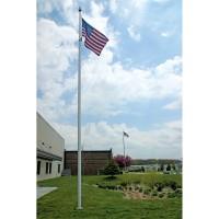25 ft. Hurricane IH Aluminum Flagpole (0.250) - Internal Halyard