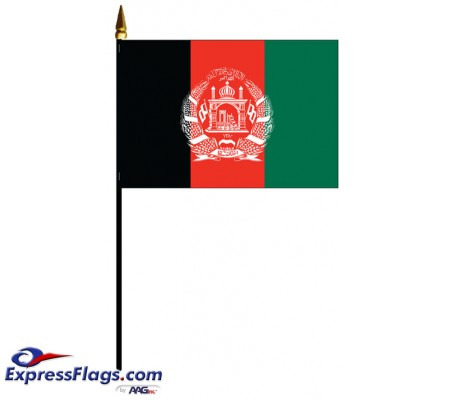 Afghanistan Mounted Flags - 4in x 6in030022