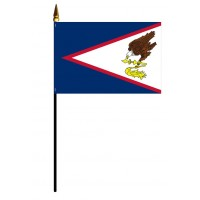 Mounted American Samoa Flags