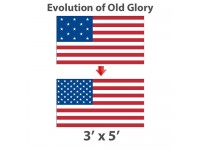 3' x 5' Evolution of Old Glory American Historical Flags - Nylon