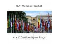 4' x 6' Complete U.N. Member Flags - 193 Outdoor Nylon Flags