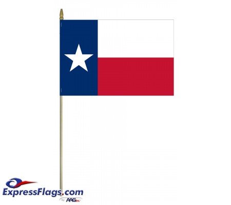 Mounted Texas State Flags