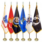 3' x 5' Deluxe Indoor Military Flag Set (Choice of Flag)
