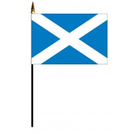 Scotland Cross Mounted Flags