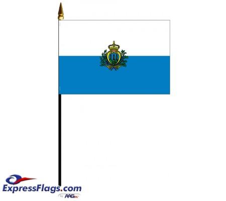 San Marino Mounted Flags - 4in x 6in033555