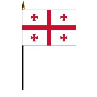 Georgia Republic Mounted Flags - 4in x 6in