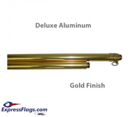 Deluxe Aluminum Indoor Poles - Gold FinishP-G