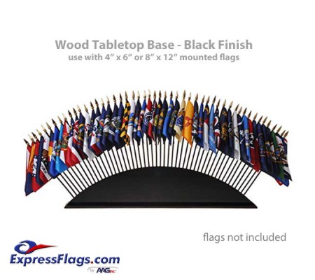 Black Wood Tabletop Flag Bases - 36 or 51 flagsStyle 6