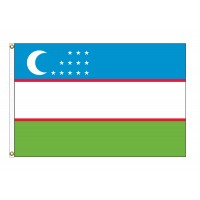Uzbekistan Nylon Flags (UN Member)