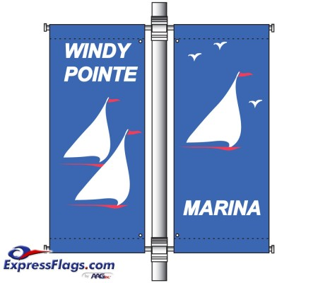 Double Banner Pole Mounting SetsDCA
