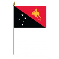 Papua New Guinea Mounted Flags - 4in x 6in