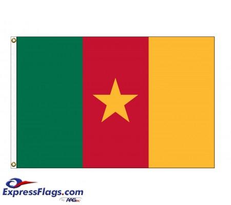 Cameroon Nylon Flags - (UN Member)CMR-NYL