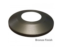 Standard Profile Aluminum Flagpole Flash Collars - Bronze Finish