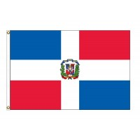 Dominican Republic Nylon Flags - (UN, OAS Member)