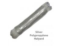 Silver Polypropylene Flagpole Halyard