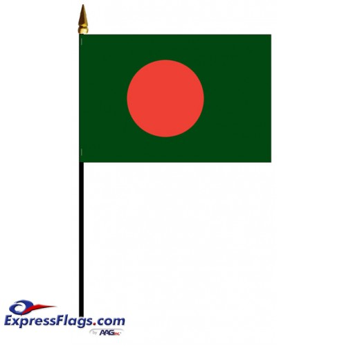 Bangladesh Mounted Flags - 4in x 6in030390