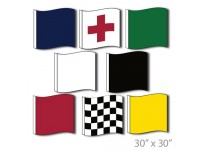 Motorcycle Racing Flags Set Official Size 30in x 30in Nylon