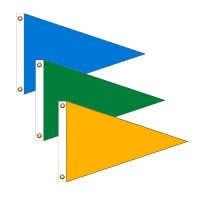 Triangle Solid Color Nylon Flags