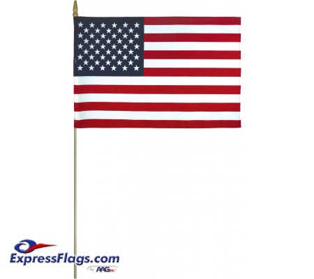 Lightweight Cotton U.S. Stick Flags - Made in USALC-USSF