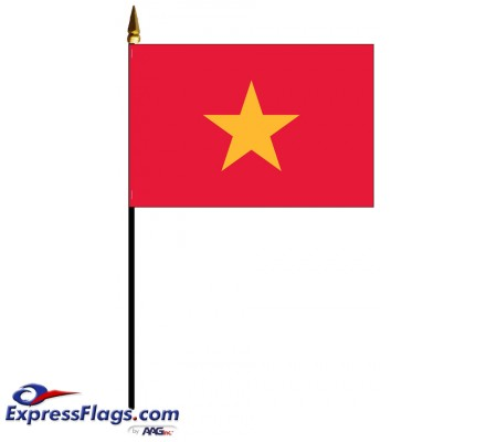 Vietnam Mounted Flags - 4in x 6in034465