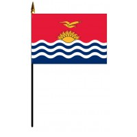 Kiribati Mounted Flags - 4in x 6in
