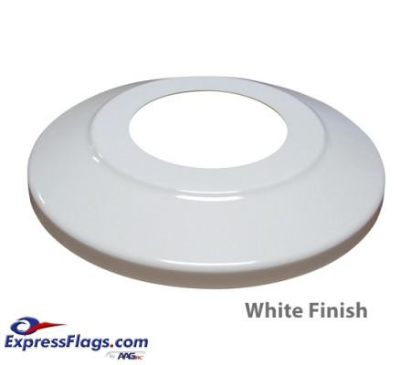 Standard Profile Aluminum Flagpole Flash Collars - White FinishSPAC-W