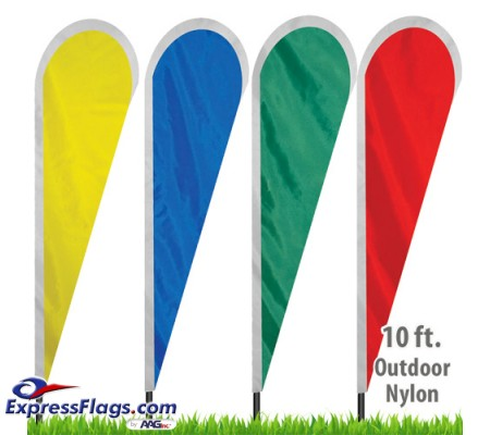 Nylon Solid Color Tear Drop Flags - 30in wideNYL-TD10-SC
