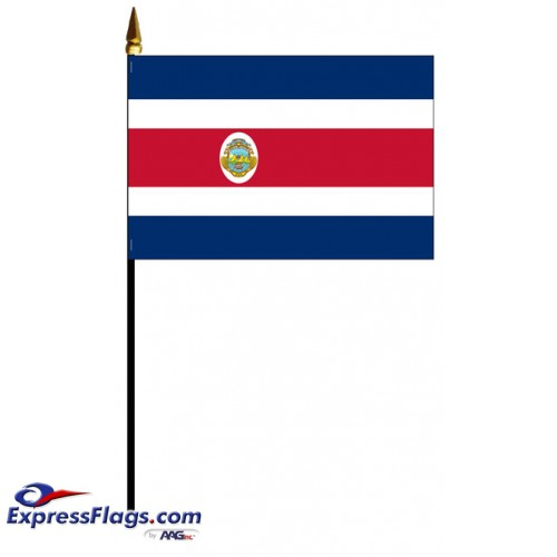Costa Rica Mounted Flags