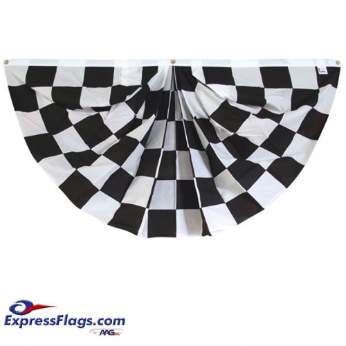 3  x 6   Checkered Fan -  Printed Poly-Cotton110312