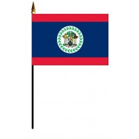 Belize Mounted Flags
