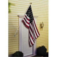 Deluxe U.S. Flag & Flagpole Set - Wall Mount