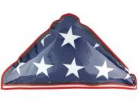 Plastic Memorial Flag Case - Fits 5' x 9-1/2' Flag
