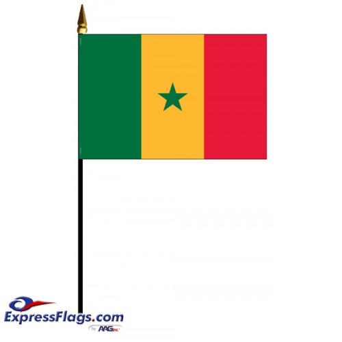 Senegal Mounted Flags - 4in x 6in033662