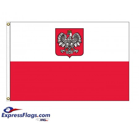 Poland Nylon Flags (Eagle)POL-NYL-2