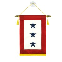 Blue Star Service Banners - 3 Stars