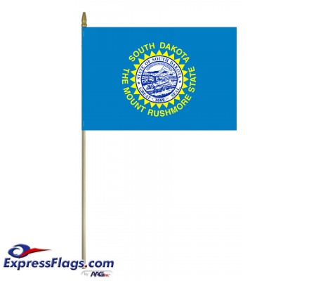 Mounted South Dakota State Flags
