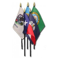 4in x 6in E-Gloss State & Territory Stick Flags