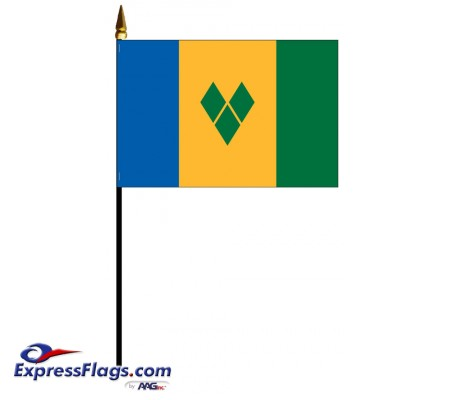 Saint Vincent & The Grenadines Mounted Flags033536