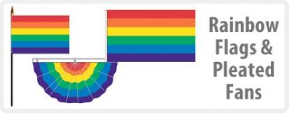 Rainbow Flags & Pleated Fan
